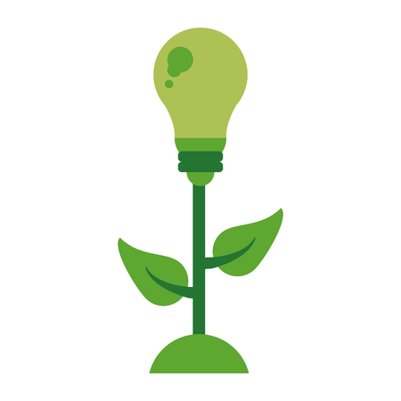 Eco bulb light green energy vector illustration graphic design Illusztráció