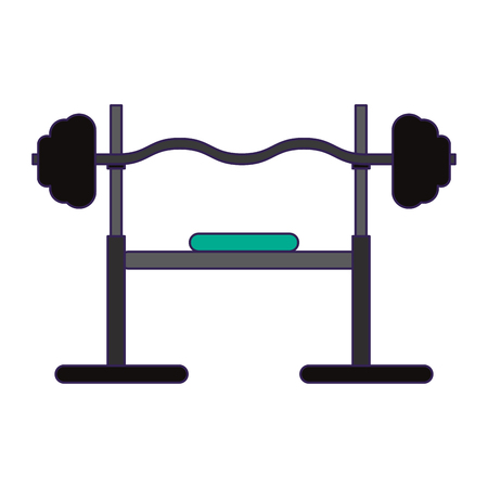 Gym iron weights and stretch vector illustration graphic design