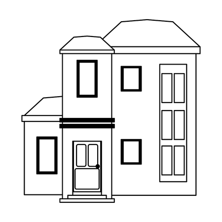 House real estate cartoon isolated vector illustration graphic design Illustration