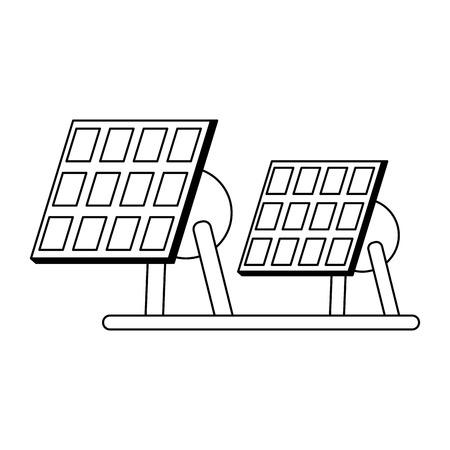 Solar panels electric energy vector illustration graphic design Illusztráció