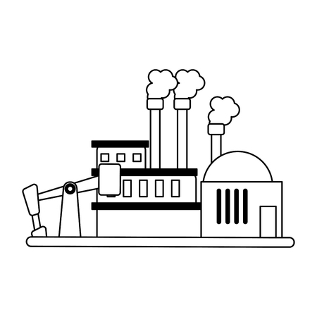 Refinery industry plant symbol vector illustration graphic design