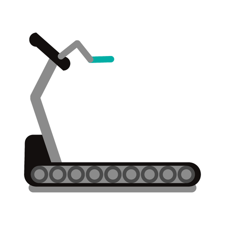 Gym running cardio machine vector illustration graphic design