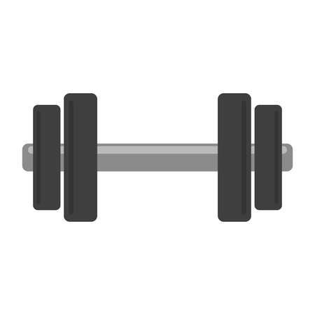 dumbbell gym equipment symbol vector illustration graphic design