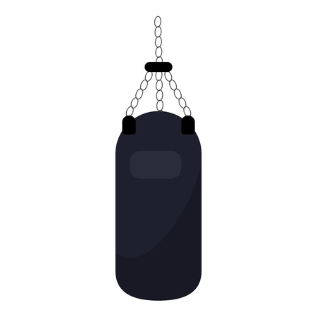 gym boxing bag isolated vector illustration graphic design Ilustrace