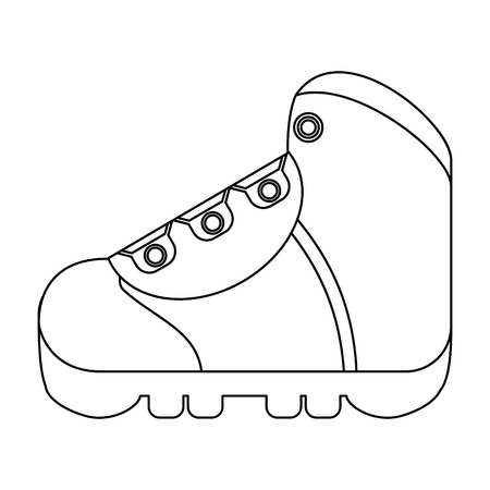 camping boot footwear symbol vector illustration graphic design