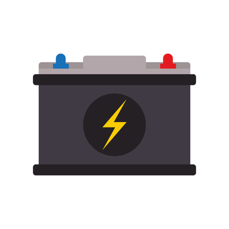Car battery symbol isolated vector illustration graphic design Illustration