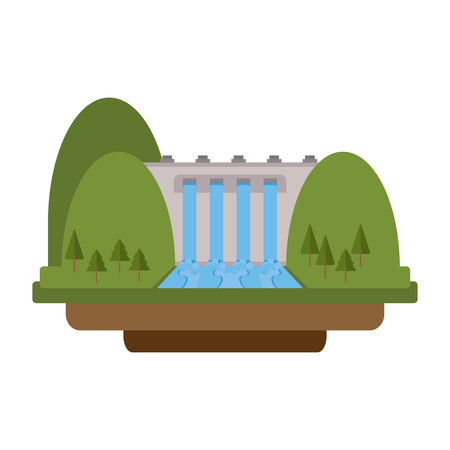 Hydroelectric green energy vector illustration graphic design