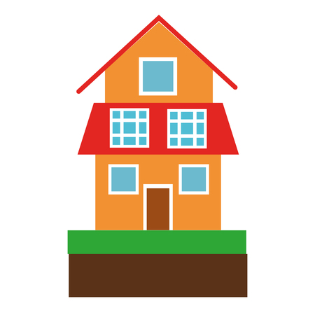 house with solar panels symbol vector illustration graphic design