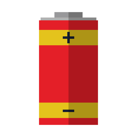 electric battery symbol isolated vector illustration graphic design