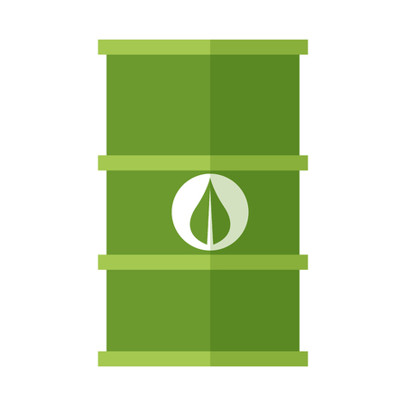 green fuel barrel symbol vector illustration graphic design