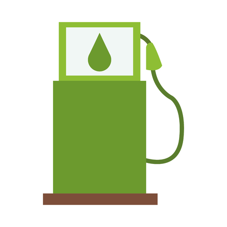 green fuel dispenser symbol isolated vector illustration graphic design