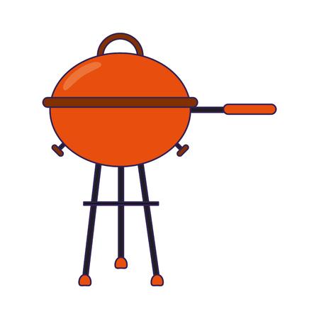 bbq grill symbol isolated vector illustration graphic design