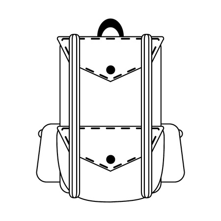 camping backpack equipment symbol vector illustration graphic design
