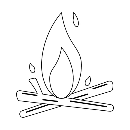bonfire with woods isolated vector illustration graphic design 일러스트