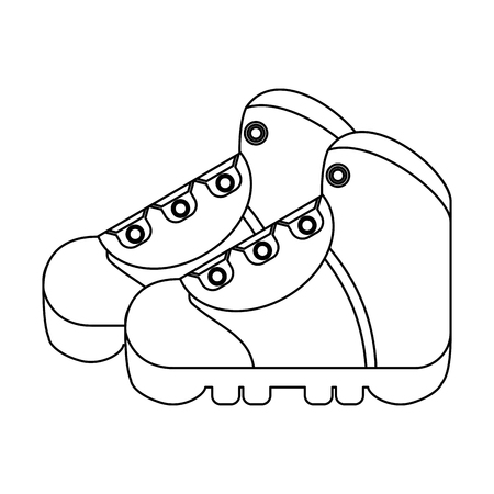 camping boots footwear isolated vector illustration graphic design