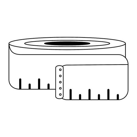 body measurement tape symbol vector illustration graphic design