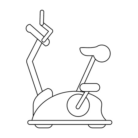 Gym spinning machine symbol isolated vector illustration graphic design
