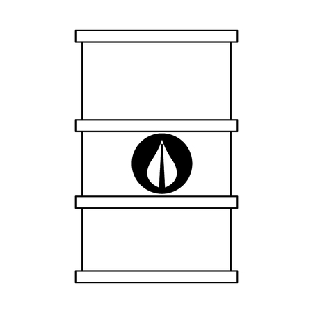green fuel barrel symbol vector illustration graphic design