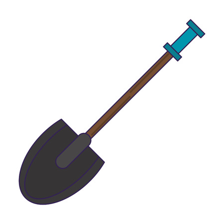 Shovel construction tool isolated vector illustration graphic design