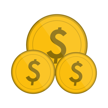 money coins isolated symbol vector illustration graphic design Ilustração