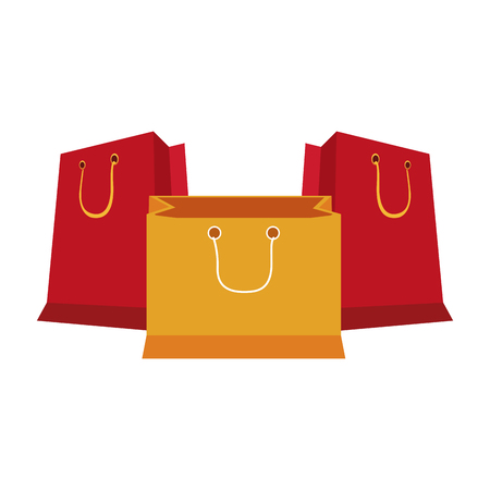 shopping bags symbol isolated vector illustration graphic design  イラスト・ベクター素材
