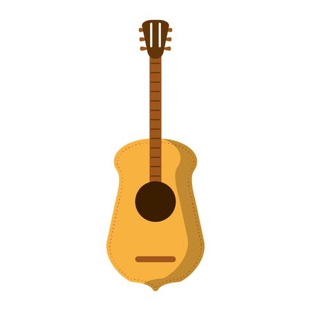 acoustic guitar music instrument vector illustration graphic design Stock Vector - 125336598