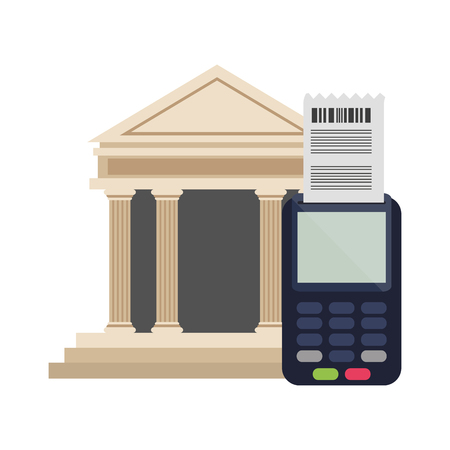 credit card reader and bank electornic payment vector illustration graphic design