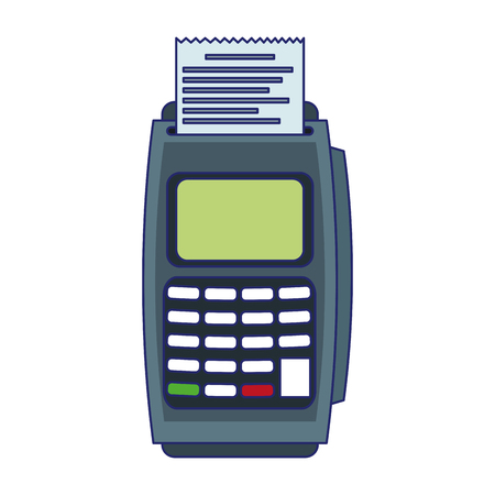 credit card reader electronic payment vector illustration graphic design
