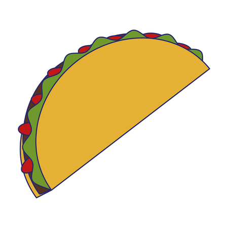 Mexican taco burrito food vector illustration graphic design