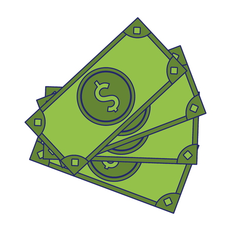 money cash cartoon symbol vector illustration graphic design Illustration