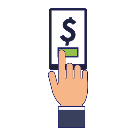 online money payment with smartphone vector illustration graphic design