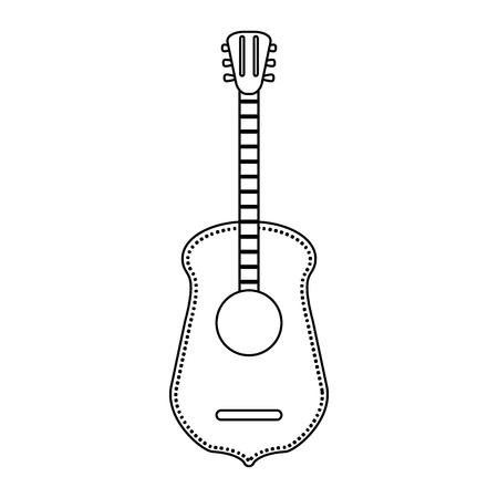 acoustic guitar music instrument vector illustration graphic design Stock Vector - 125336699