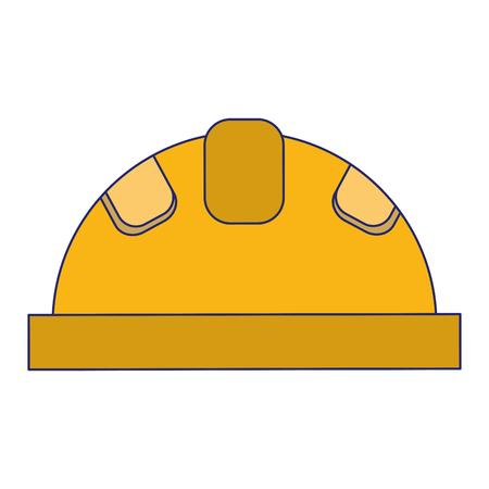Construction worker helmet symbol vector illustration graphic design