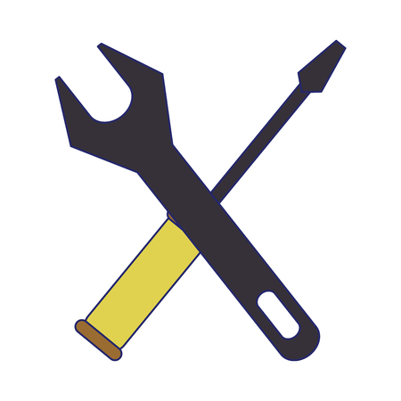 tools wrench and screwdriver symbol vector illustration graphic design Çizim