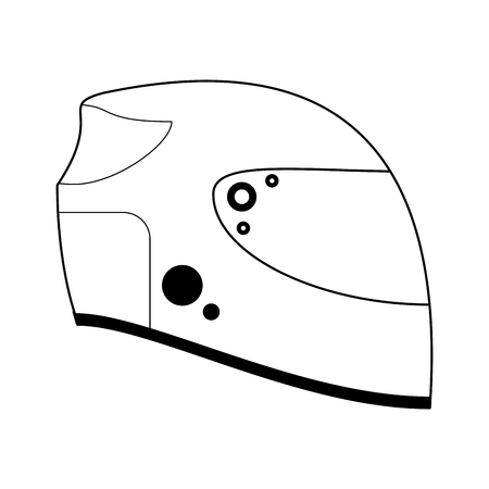 Racing helmet equipment isolated vector illustration graphic design Illustration