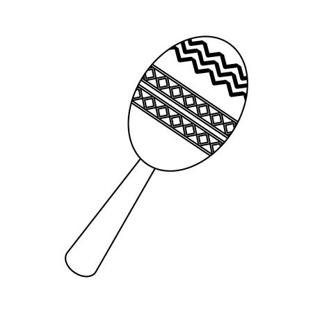Maraca latin music instrument vector illustration graphic design