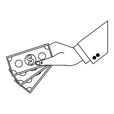 businessman with cash symbol vector illustration graphic design