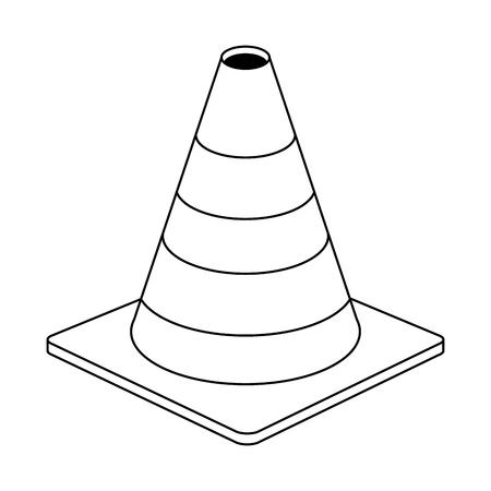construction traffic cone symbol vector illustration graphic design