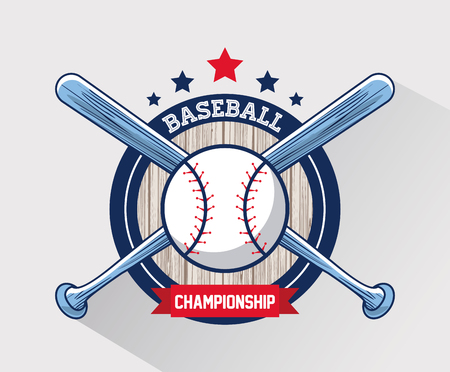 Baseball sport game championship card vector illustration graphic design
