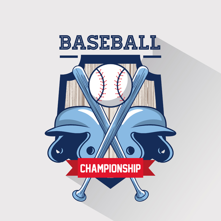 Baseball sport game championship vintage card vector illustration graphic design