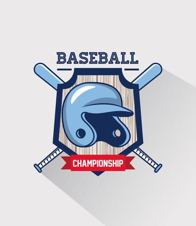 Baseball sport game championship vintage card vector illustration graphic design