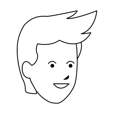 young man head vector illustration graphic design