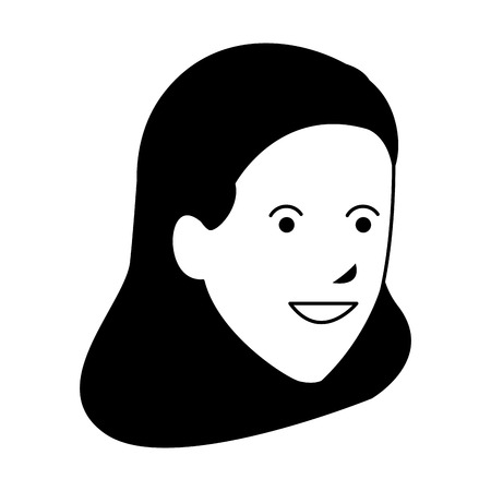 young woman head vector illustration graphic design