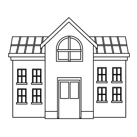 university campus house vector illustration graphic design