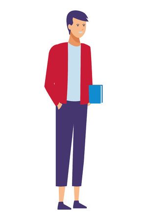 guy casual outfit vector illustration graphic design