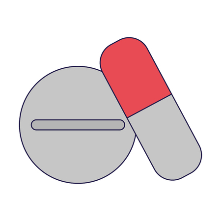 medicine and pill drugs vector illustration graphic design Ilustração