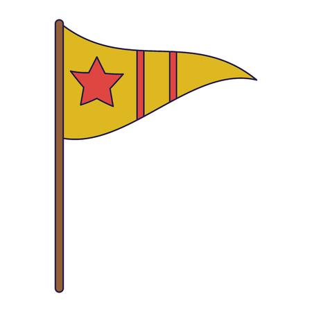 sport pennant with star vector illustration graphic design Illustration
