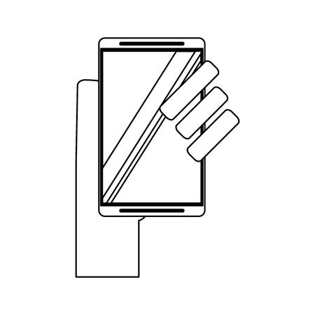 hand using glucometer symbol vector illustration graphic design