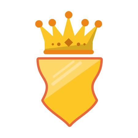 Badge emblem with crown symbol vector illustration graphic design