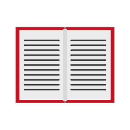book open symbol isolated vector illustration graphic design Stock Illustratie
